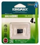 4GB Kingmax MicroSDHC class 10 (без адаптера SD)