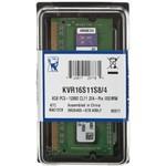 Память SoDIMM DDR3 PC-12800 4Gb (KVR16S11S8/4)